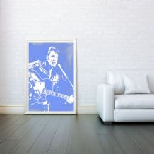 Elvis, Elvis Presley, Prints & Posters, Decorative Arts, Wall Art Print, Poster Any Size - Black and White Poster